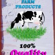 Fresh delicious dairy and beef food poster.Vector illustration — Vector de stock #26641461