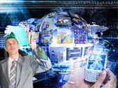 Innovative internet technologies E-business — Stock Photo