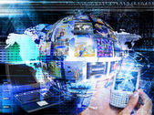 Innovative internet technologies.E-business — Stock Photo