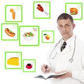食事概念。健康的な食べ物や飲み物 — ストック写真