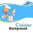 Cuisine background — Stock Vector #30297635