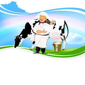 Happy Milkman — Stock Photo