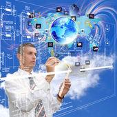 создание инженерной технологии программирования — Стоковое фото