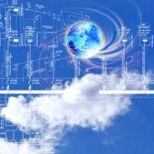 Engineering industrial designing energy technologies — Stock Photo