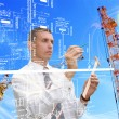 Stock Photo: Engineering industrial designing technologies