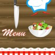 Stockvektor : Menu food background.Vector