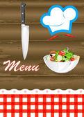 Menu food background.Vector — Stock Vector