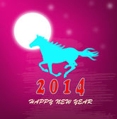 The New Year of the Horse.Holiday vector card — Stock Vector