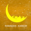 Stock Vector: Abstract night background for RamadKareem