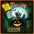 Happy Halloween Poster. Vector cardHappy Halloween Poster. Vector card — Grafika wektorowa