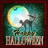 Happy Halloween Poster. Vector card — Stock Vector