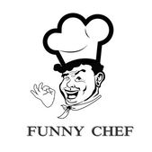 Funny face Chef.Portrait Cook — Stock Photo