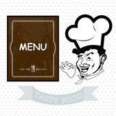 从 chef.vector 背景最佳美味新鲜晚餐 — 图库矢量图片