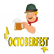 Stock Vector: Beer.Octoberfest.Vector