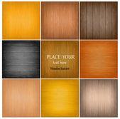 Set bunte abstrakte Holz texture.vector Abbildung — Stockvektor