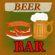Best traditional fresh cold Beer. Beer Bar menu. Vector — Stock vektor