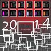 Infographic calendars New Year 2014.Vector abstract background — Stock Vector