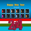 Creative infographic Happy New Year 2014.Calendars Vector — Vettoriali Stock