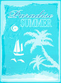 Paradise summer.Travel background.Vector — Stock Vector