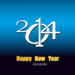 Creative Happy New Year 2014.Infographic Calendars Vector — Imagen vectorial