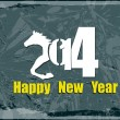 Happy New Year 2014.Abstract holidays card.Vector — Stock vektor #33622983