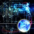 Science abstract technology.Globalization background — Stock Photo