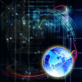 Science abstract technology.Globaliz ation background — Stock Photo