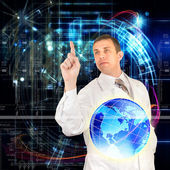 Science abstract technology.Globalization Genetic — Stock Photo