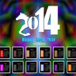 Creative Happy New Year 2014. Infographic Calendars. Vector — Vecteur