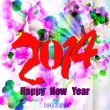 Creative Happy New Year 2014. Infographic Calendars. Vector — Vecteur