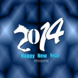 Creative Happy New Year 2014. Infographic Calendars. Vector — Image vectorielle