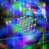 Creative globalization new engineering cosmic technologies — Stock Photo