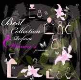 Female perfume premium class.Abstract graphic illustration.Vector — Stock Vector