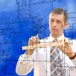 Stock Photo: Engineer.Engineering construction designing