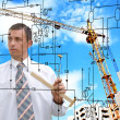 Stock Photo: Engineering building designing.Profession Engineer