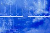 Engineering industrial designing.Concept — Stock Photo