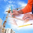 图库照片: Engineering construction designing