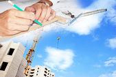 Engineering construction designing — Stock Photo