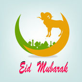 Festival del sacrificio eid al azha o eid al adha.ramadan kareem.vector — Vector de stock