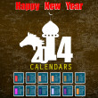 Creative Happy New Year 2014 celebration background.Vector — Image vectorielle