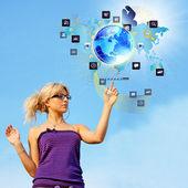 The newest Creative Internet technologies — Stock Photo