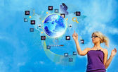 The newest Creative Internet technologies — Foto Stock