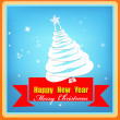 Creative New Year card.Christmas Eve — Stock Vector