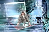 Globalization computer technologies — Stock Photo