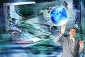 La globalización innovadores equipos technology.internet — Foto de Stock