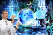 Internet connect technologies.Science.Globalization — Stock Photo