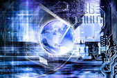 Globalization Internet technologies — Stock Photo