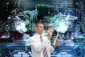 Computers programming engineering technologies.Globalization — Stock Photo