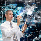 Programming Computers engineering technology.Science globalization — Stock Photo