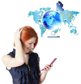 Best Internet mobile connect.Network concept — Stock Photo
